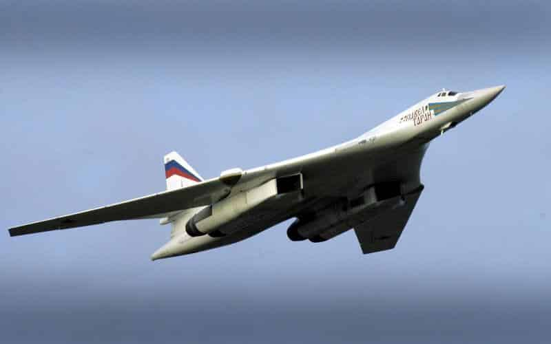 """The Russian air force TU-160 -""""Blackjack"""" is one of the most advanced strategic bombers."""