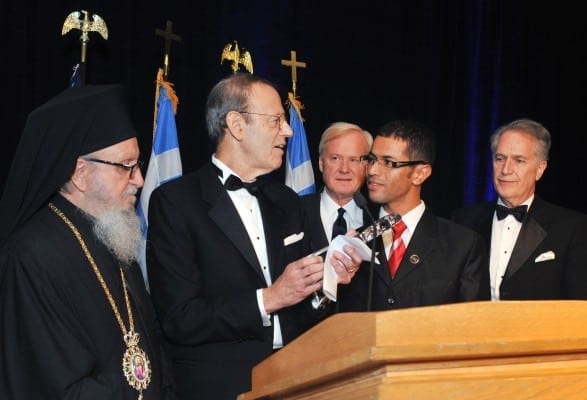 Carl Gershman (pictured, second from left) has been the President of the National Endowment for Democracy since its beginning in 1984. In this picture, he presents the 2011 Oxi Day Award to Jamel Bettaieb for his leadership in Tunisia's Arab Spring. One wonders what services this individual lent NED to merit this prize.