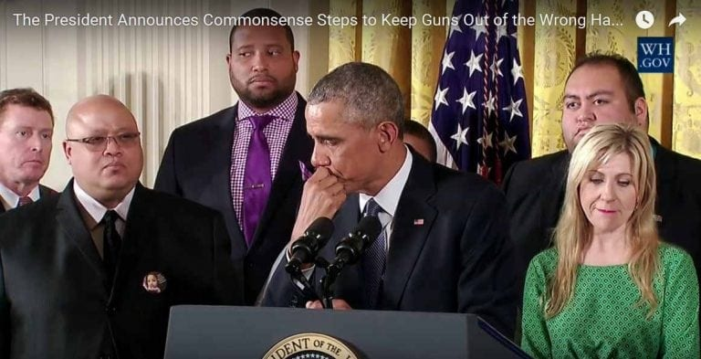 Obama cries Jan. 5, 2016