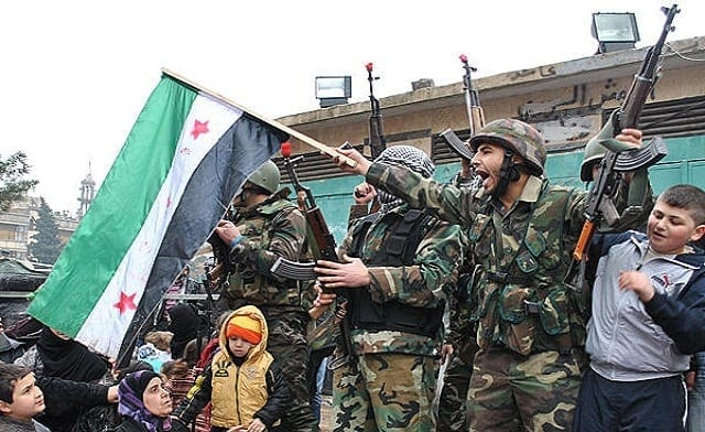 Syrian soldiers. Loyal to Assad and Syria's independence as a nation.