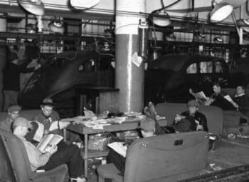 Fint sit-down strike 1936