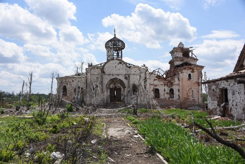 IverskyMonastery-Remains_of_an_Eastern_Orthodox_church_after_shelling_near_Donetsk_International_Airport