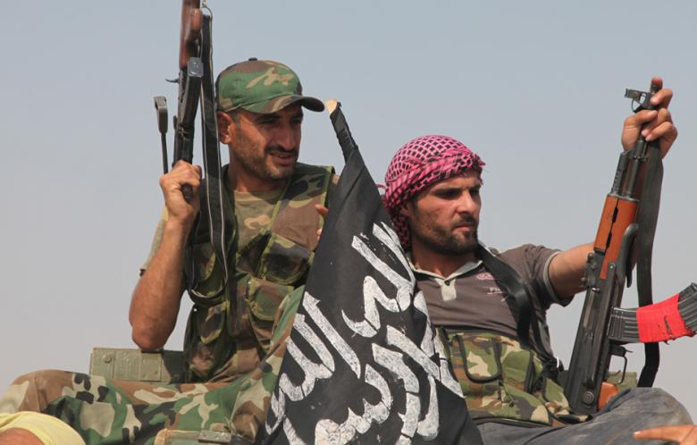 """ISIS and al-Qaeda rebels in Aleppo: the """"moderate"""" rebels Washington and its accomplices have tried so hard to protect."""