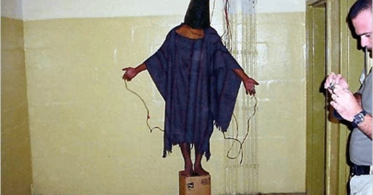 Abu-Ghraib, Iraq. Torture, American style. On of the iconic pictures that shook the world. Yet this was just the tip of iceberg, and few if any torturers have been brought to justice.