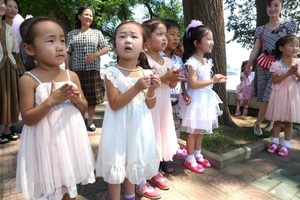 North Korean kids on the street (Andre Vltchek)