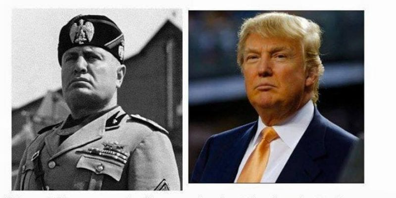 Trump a new Duce? The jokes and allusions ring uncomfortably close to the truth.