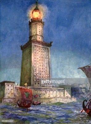 The Pharos of Alexandria, Egypt, 1933-1934.