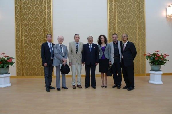Andre in DPRK, Ramsey Clark Delegation, DPRK (Andre Vltchek)