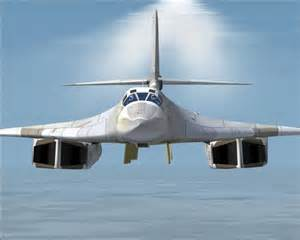 The TU-160 Supersonic strategic bomber.