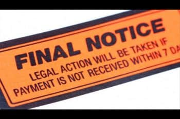 Debt notice