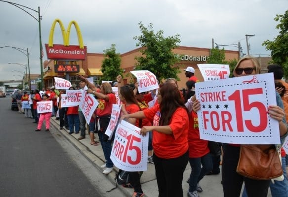 food workers strike, McDonald's strike