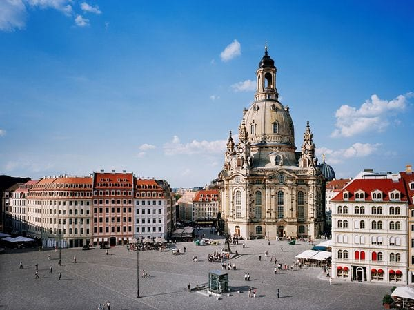 Dresden in 2006. Much of the old city had been reconstructed.
