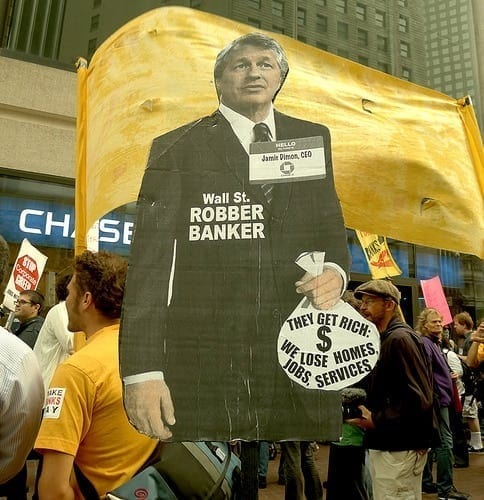"""Anti Wall Street demonstration. Some people already """"get it."""""""