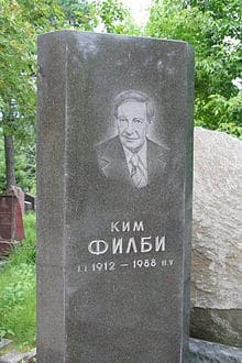 By choice and necessity Philby died and was buried in the Soviet Union.