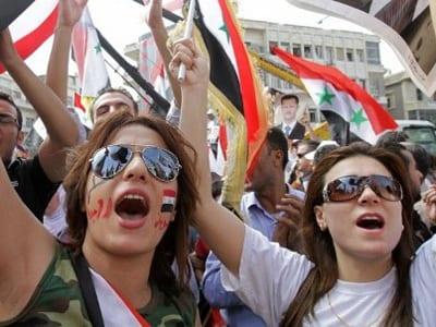 syria-2011-pro-regime-damascus-president-shout