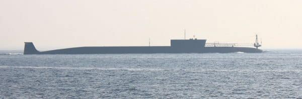 At-14700-tonnes, the Borei-class-nuclear-ballistic-missile-submarines-are-slightly-smaller-than-their-predecessors-the-massive-typhoon-class-but-with-a-capacity-of-16-bulava-ballistic-missiles-each-carrying-six-to-10-warheads-with-a-range-of-8300km-they-are-still-a-force-to-be-reckoned-with.