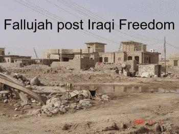 """Fallujah after Operation """"Iraqi Freedom"""""""