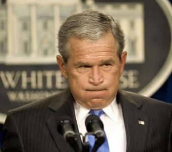 G.W. Bush: clearly a criminal at large by any standard of juridical decency.