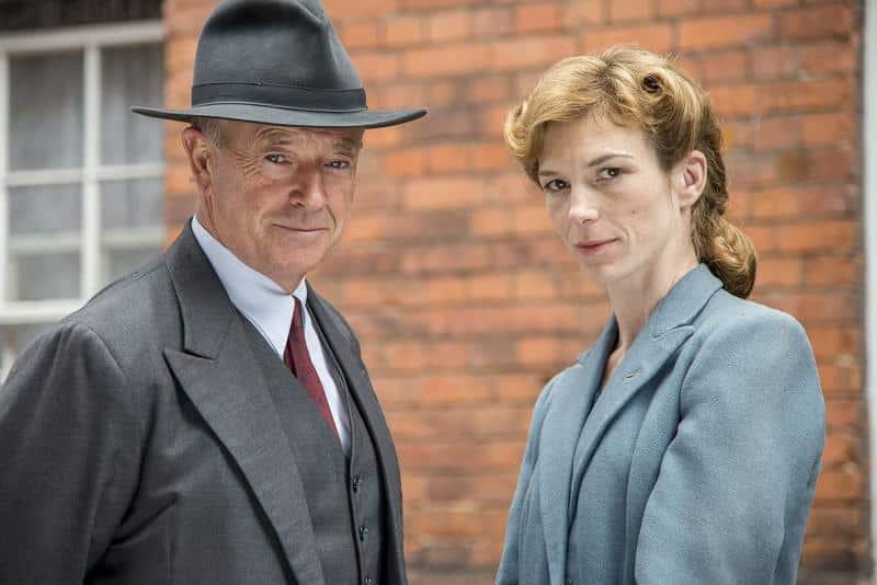 Foyle's War, Series 8_Michael Kitchen_Honeysuckle Weeks_Credit Eleventh Hour.ITV