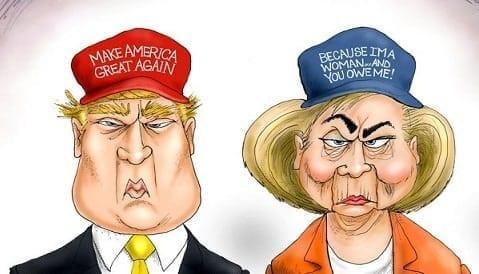 Trump, Clinton