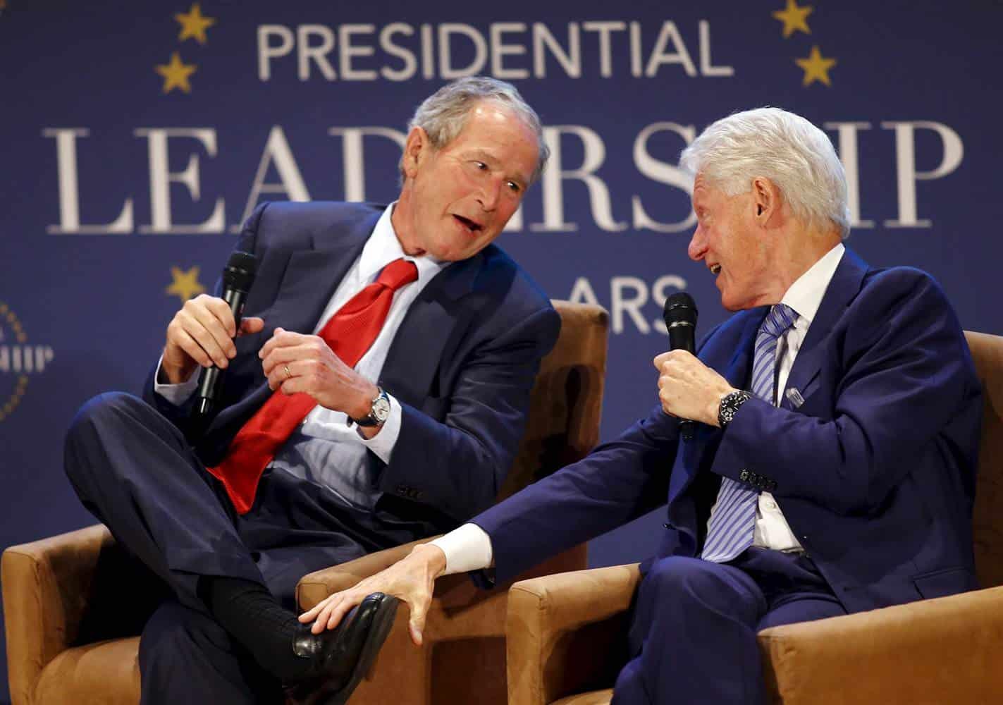 Bush2-BillClinton-Pals