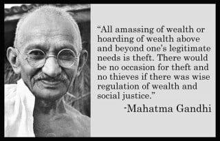 GandhiAmassingOfWealth