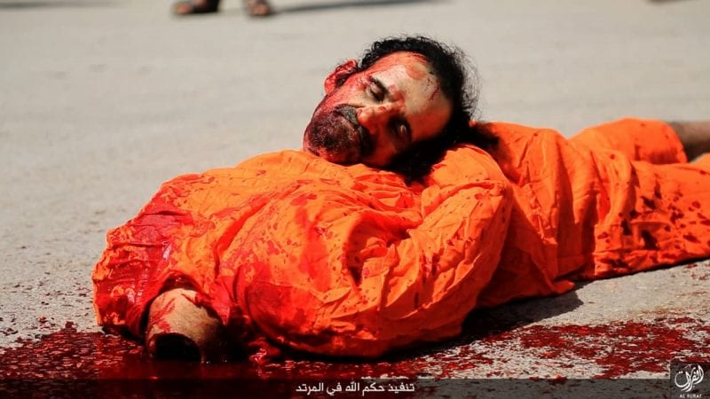 Beheading prisoners is routine and celebrated by ISIS...and Saudi Arabia.