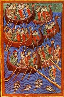 Danes invade England