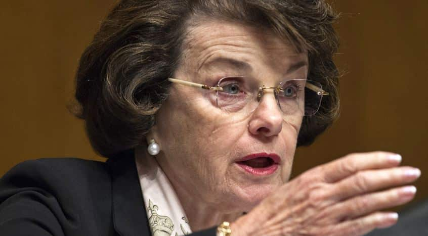 Diane Feinstein: corrupt and undemocratic as they come, but a sociopath proper?