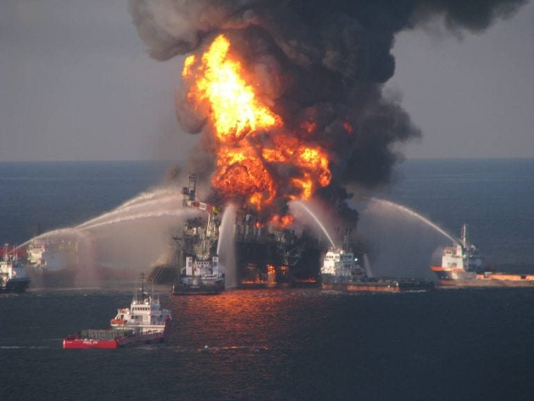The infamous Deepwater Horizon explosion, an inferno in the Gulf, which could have been avoided. Why is this enormous, complex, network of life accorded no rights whatsoever?