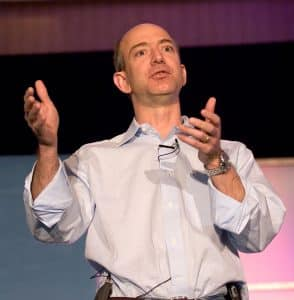 Amazon's head Jeff Bezos, and new WaPo owner.