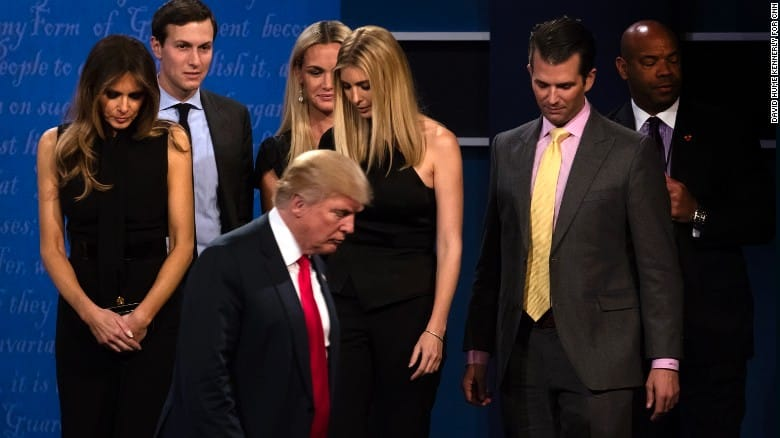 The Trump clan leaves the stage.