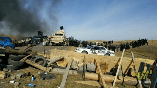 Standing Rock barricade