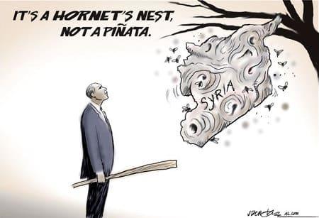 Syria hornet's nest