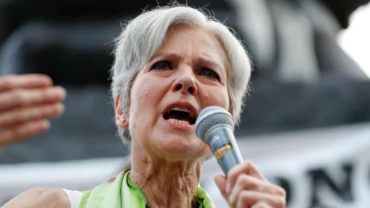 Jill Stein as portrayedina recent piece on the LA TImes.