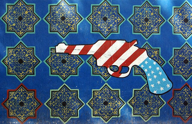 Mural on the American Embassy in Iran. (Credit: Phillip Maiwald)