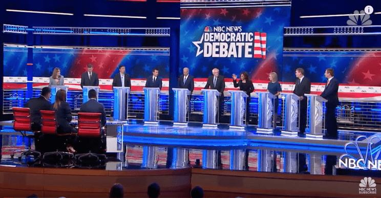 2020 Democratic Party Debates Encircle Sanders with Wall ...