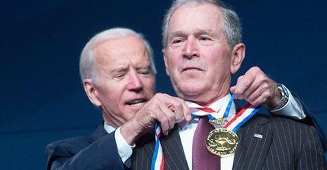 Biden decorates Bush 2